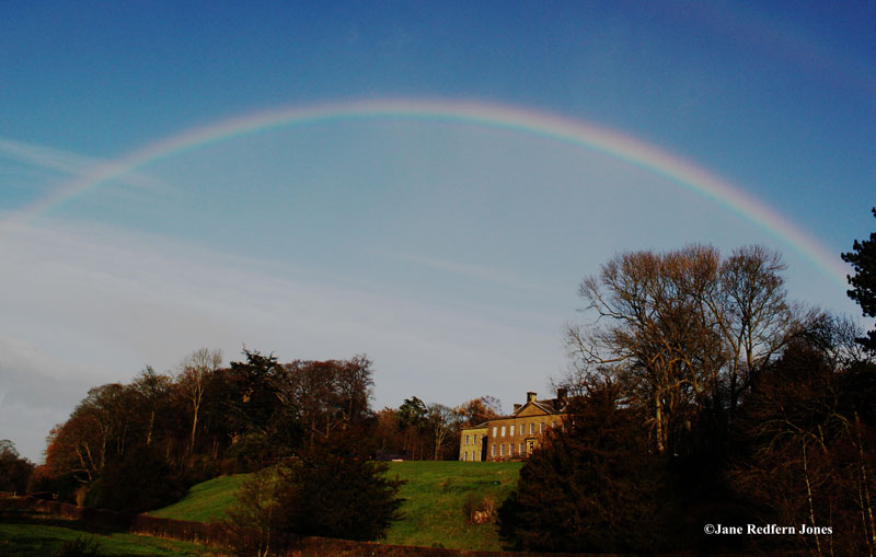 Rainbow over Erddig Hall